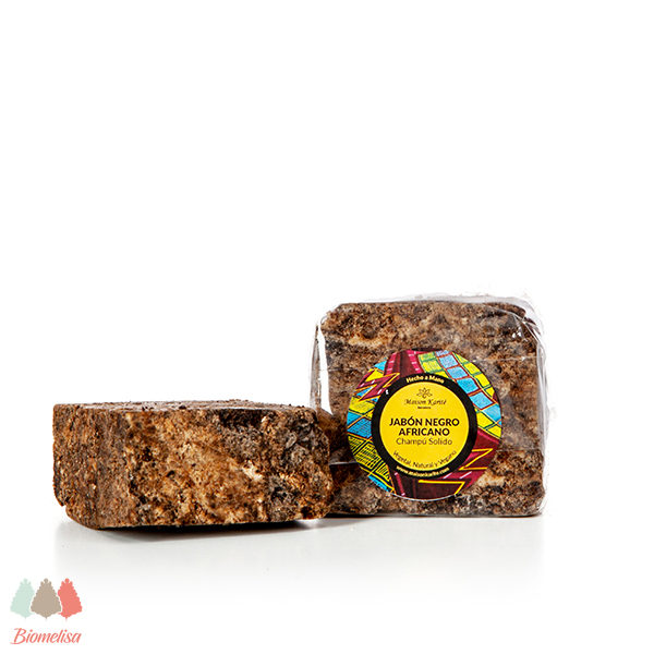 Maison Karite + Biomelisa _ 040 + Jabón Negro Africano - Original Saponificado con Ceniza